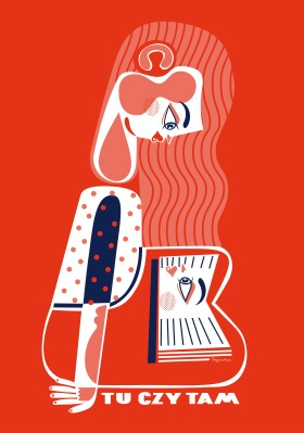 """Zdjęcie pracy Katarzyna Bogucka, """"Tu czytam"""", plakat towarzyszący wystawie"""